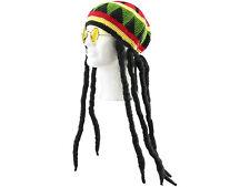 Dreadlocks Reggae Rasta Mütze Perücke Jamaika Dreads Fasching Karneval Halloween
