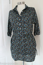size 12 cotton floral belted top from white stuff brand new