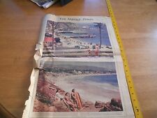 1940 Catalina Island Laguna Beach newspaper magazine surfboard Los Angeles Times