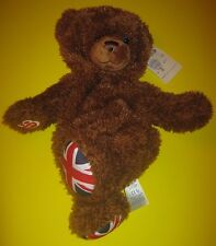 Build-A-Bear UK EXCLUSIVE UNION JACK JOINTED FLAG Unstuffed TEDDY England 16in