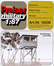 Preiser 18338 Wachturm Militär Bausatz, 1:87/ H0 [G]