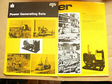 Brochure POWER GENERATING SETS PERRY TP INTERNATIONAL IH Mac Cormick Truck LKW