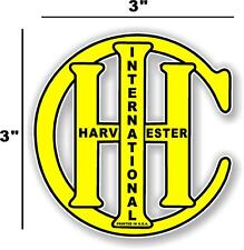"3"" INTERNATIONAL IH YELLOW - HIT AND MISS GAS ENGINE TRACTOR STICKER"
