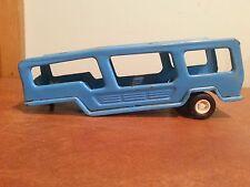 Vintage Blue Buddy L Japan Pressed Steel Car Hauler Trailer