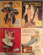 LOT OF11 VINTAGE SATURDAY EVENING POSTS, FAMOUS ILLUSTRATORS, SEE PICS