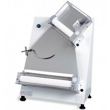 "PIZZA DOUGH ROLLER SHEETER WITH 2 PAIRS OF ROLLERS DIAMETER 16"" ROLLING MACHINE"
