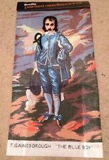 Vintage BUCILLA The Blue Boy By Gainsborough Painted Needlepoint Kit 70134