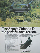 3/1980 PUB BOEING CHINOOK CH-47D US ARMY HELICOPTER HELICOPTERE ORIGINAL AD