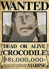 POSTER ONE PIECE CROCODILE RUFY RUBBER WANTED TAGLIA LUFFY ANIME MANGA ACE #1