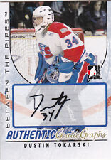 07-08 ITG Dustin Tokarski Auto Between The Pipes Goaliegraphs