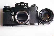 Rare en laqué noir, MIRANDA Sensorex II, bel état+auto Miranda 1,8/50,+ sac T.P.