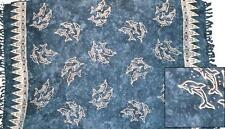 Sarong/Pareo/Wrap - Blue with dolphins batik - handmade in Bali - Hary Dary