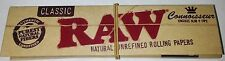 1 Booklet, RAW Connoisseur mit Filtertips, Smoking Papers NEU!
