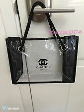 Chanel cosmetic Small Clear Tote VIP Gift Bag