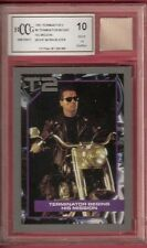 Arnold Schwarzenegger MOVIE WORN BLAZER RELIC PIECE TERMINATOR 2 CARD BECKETT 10