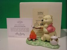 LENOX Disney CRACKLING CAMPFIRE scupture NEW in BOX with COA Winnie the Pooh