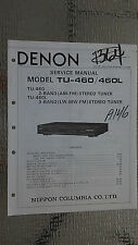Denon tu-460 L service manual original repair book stereo tuner radio
