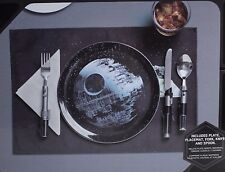 Star Wars Disney Death Star Dinner Set with Lightsaber Fork, Knife, Spoon