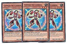 Yugioh 3 CONEJO DE CUERDA CT09-EN010 SP010 x3 NM Español / Spanish LTD NM