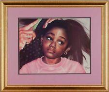 """African American Black Art Print """"TENDERHEADED - SM"""" by Leonard Freeman"""