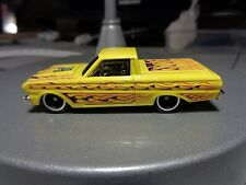 Custom 2016 Hot Wheels 65 Ford Ranchero with  5 Spoke Rims and Real Rider Tires