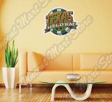 "Poker Texas Hold'em Casino Chip Gamble Wall Sticker Room Interior Decor 22"""