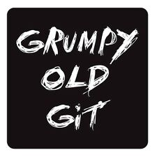 Drink Coaster Grumpy Old Git Design Tea Coffee Mat Novelty Table Ware