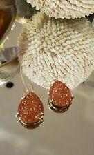 Kendra Scott Rare Retired Goldstone Allison Earrings.  HTF