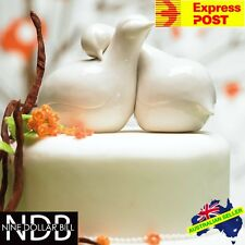 Romantic PORCELAIN Contemporary Love Birds Cake Topper Doves Wedding FASTPOST