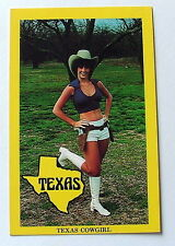 POSTCARD GUN CARRYING TEXAS COWGIRL MEMBER DALLES COWBOYS FOOTBALL CHEERLEADERS
