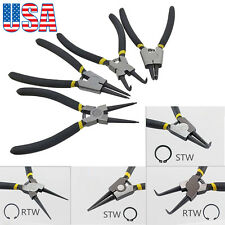 04 pcs Snap Ring Pliers Plier Set Circlip Combination Retaining Clip Tools
