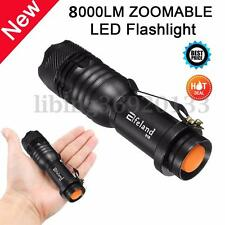 Elfeland 8000LM Q5 3 modalità torcia 315 ZOOMABLE luce flash LED Super Brillante