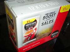 NESCAFE ORIGINAL 2 in 1 SACHETS x 60 COFFEE WHITE NO SUGAR 12 x 5 packs FREE P&P