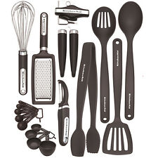 Kitchen Tools Set KitchenAid 17 Piece Black Cooking Utensils Utensil Gadget NEW