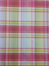 Cotton Curtain Fabric Material Bed Cushion sheet Multicolour Tartan