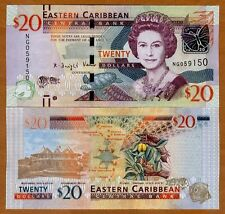 Eastern East Caribbean, $20, ND (2016) , P-New, UNC > Upgraded