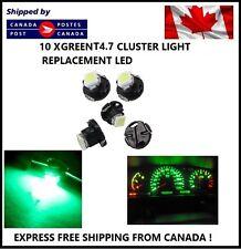 10x T5 T4.7 5050 1SMD GREEN LED Bulbs Dashboard Cluster Gauge Side Light DC12V