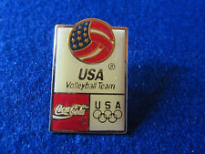 1980's Olympic USA Volleyball Coca Cola pin pinback tac sports souvenir games