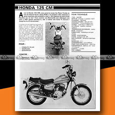 ★ HONDA CM 125 TWIN ★ 1979 Essai Moto / Original Road Test #a306