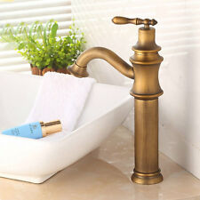 European Style Brass Antique Basin Sink Hot Cold Water Wash Tub Mixer Faucet Tap