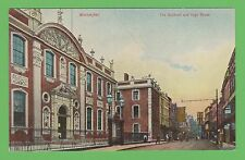 Vintage postcard. The Guildhall and High Street, Worcester