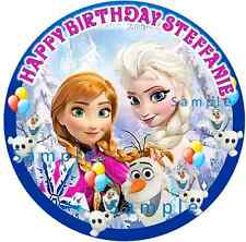 DISNEY FROZEN:ROUND Personalized Edible Image Cake Topper FREE SHIPPING