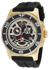 @NEW Invicta Sea Vulture Rubber Strap Watch GoldTone Case 18947 Chronograph