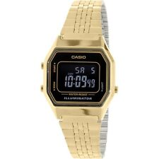 Casio LA680WGA-1B Ladies Mid-Size Gold Tone Digital Retro Vintage Watch NEW