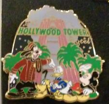 2007 HOLLYWOOD TOWER HOTEL GOOFY MICKEY DONALD WDW MYSTERY PIN ATTRACTION SERIES
