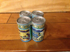Vintage Casey's Lager Beer Set of 4 Cans Snider Ford Ashburn with holder Empty