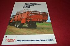 Deutz Fahr Pit Silage Self Loading Trailers Forage Wagon Dealers Brochure DCPA2
