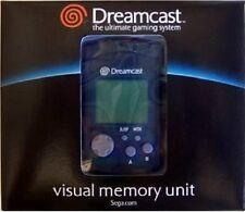 SEGA DREAMCAST BLUE VISUAL MEMORY UNIT CARD VMU MINT CONDITON IN BOX