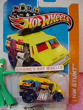 Case Q 2013 Hot Wheels COOL ONE #77 US Team☆Yellow☆hw Stunt Circuit