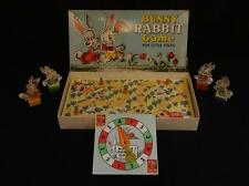 Vintage 1940s BUNNY RABBIT BOARD game by Parker Brothers! Great game pieces!